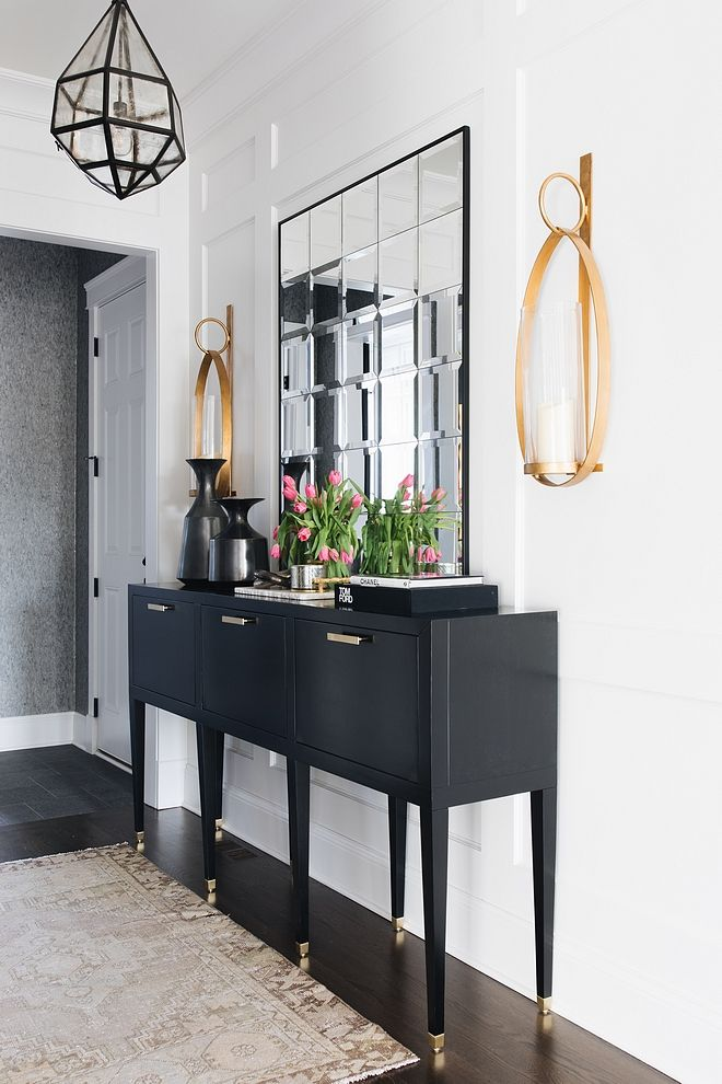 White And Black Foyer White And Black Foyer Decor Sources On Home Bunch  #WhiteandBlack #Foyer #WhiteandBlackFoyer | For The Home | Pinterest |  Foyers, ...