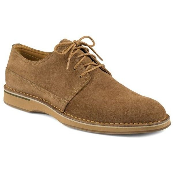 Sperry Tan Gold Norfolk Oxford - Male ($185) ❤ liked on Polyvore featuring men's fashion, men's shoes, men's oxfords and tan