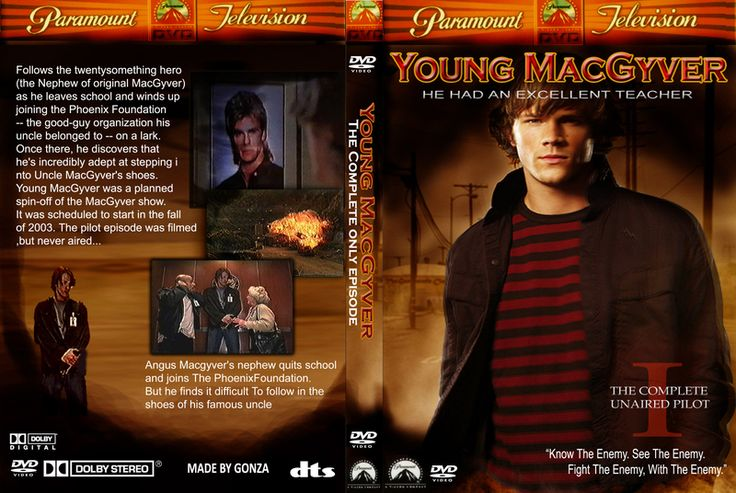 Fan made DVD cover for Young MacGyver - MacGyver Online