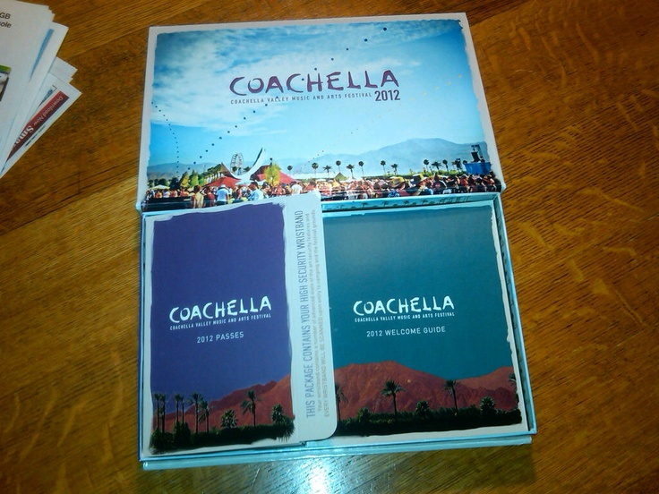 Coachella tickets - weekend II. Comes in an awesome collectors box.