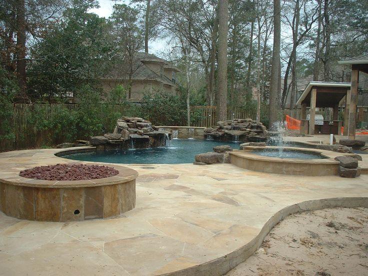 Custom Naural Freeform Pool Rock Waterfall Water Feature