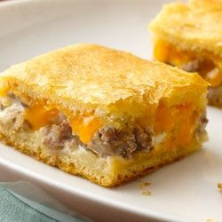 Sausage and Cheese Crescent Squares from Pillsbury Allrecipes.com