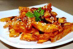Crispy Honey Chilli potato ((Tangy fries with nutty sesame topping)) | Rachna's Kitchen