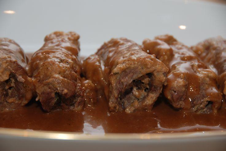 Benløse fugle i gryde med flødesauce - opskrift med billeder (recipe in Danish)