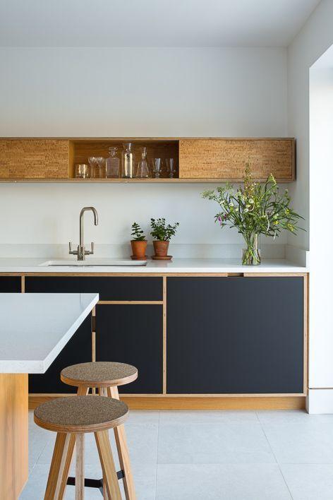 Küchenliebe, schwarz mit Holz von Uncommon Projec…