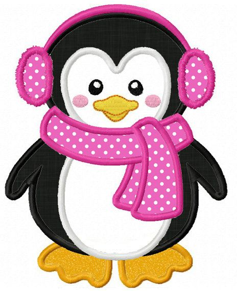 Instant Download Penguin Applique Machine by JoyousEmbroidery                                                                                                                                                                                 Mais