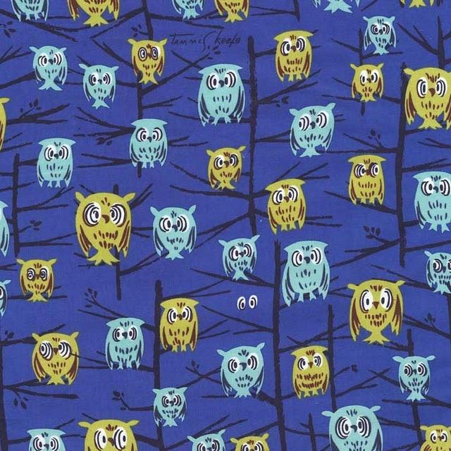 vintage tammis keefe #fabric #vintage: Michael Miller Fabrics, Fabulous Fabrics, Owl Prints, Vintage Wardrobe, Tammy Keef Night Owl Fabr, Keef Fabrics, Owl Fabrics, Fabrics Design, Hoot