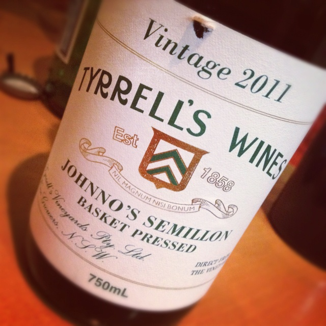 An exceptional semillon - Tyrrells  #wine #semsational