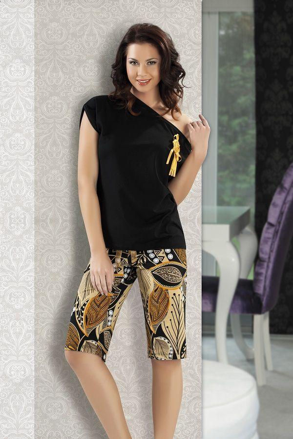Maranda İç Giyim Desenli Kapri Pijama Takımı