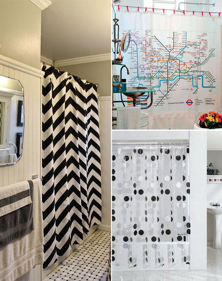 Com um pouco de criatividade aliada com seu estilo, dá pra pra deixar o banheiro lindo usando cortinas para box!