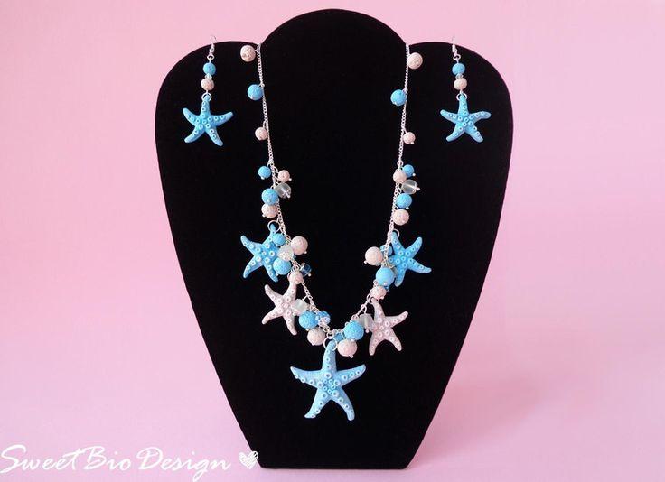 Parure in tema Marino con stelle marine di SweetBioDesign su DaWanda.com