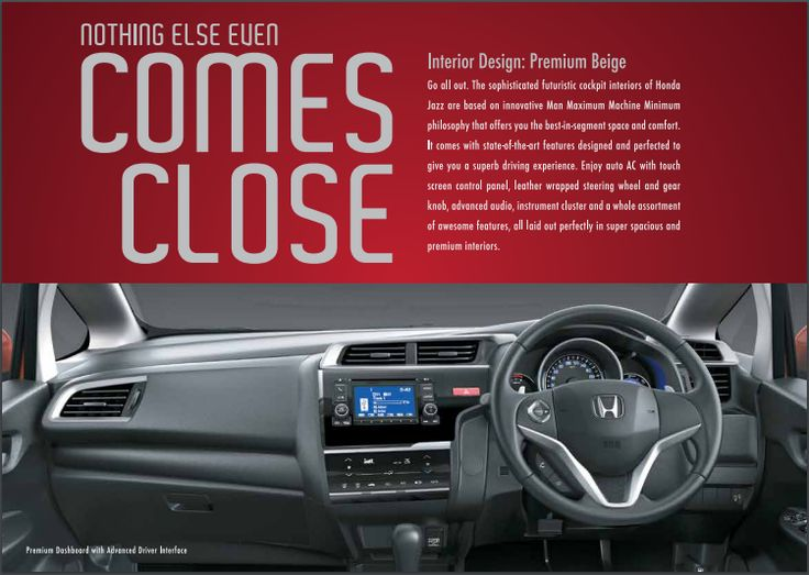 Nothing else even comes close. Honda Jazz Book a test drive #Honda #HondaJazz #HondaJazzBangalore