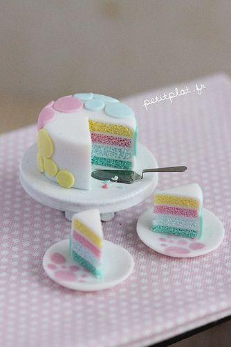Miniature Cake - Pastel Dots