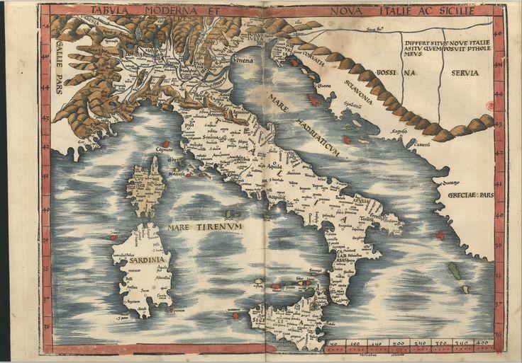 "C.A. 152 V. - 0241 - Ptolomeu (ca 90-ca168) – ""Claudii Ptolemaei viri Alexandrini Mathematicae…"".   Argentinen : Joannis Schotti, 1513. BNP C.A. 152 V."