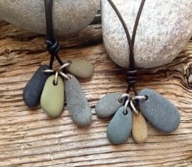 Cape Cod beach stone jewelry by KEM Designs✖️More Pins Like This One At FOSTERGINGER @ Pinterest✖️