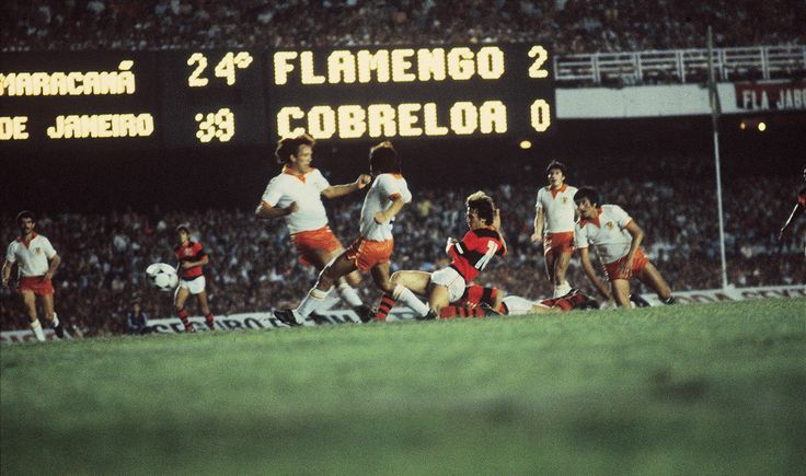 Zico. Final Libertadores 1981. Flamengo x Cobreloa (CHI).
