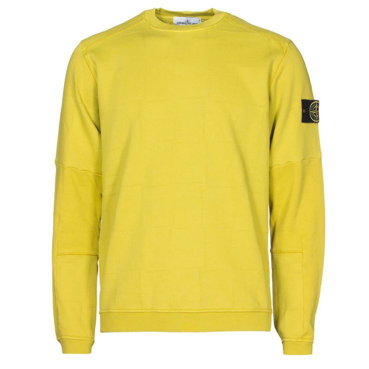 Stone Island : Sweatshirts : House check crew neck sweatshirt in Pistachio…