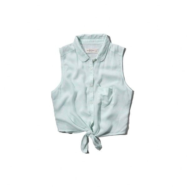 Abercrombie & Fitch Natalie Shirt (45 BRL) ❤ liked on Polyvore featuring tops, shirts, mint floral, button down crop top, blue floral shirt, cropped tops, button down shirt and blue crop top