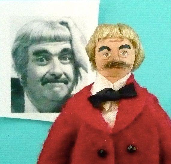 Celebrity Doll Miniature Bob Keeshan Art by UneekDollDesigns, $42.00