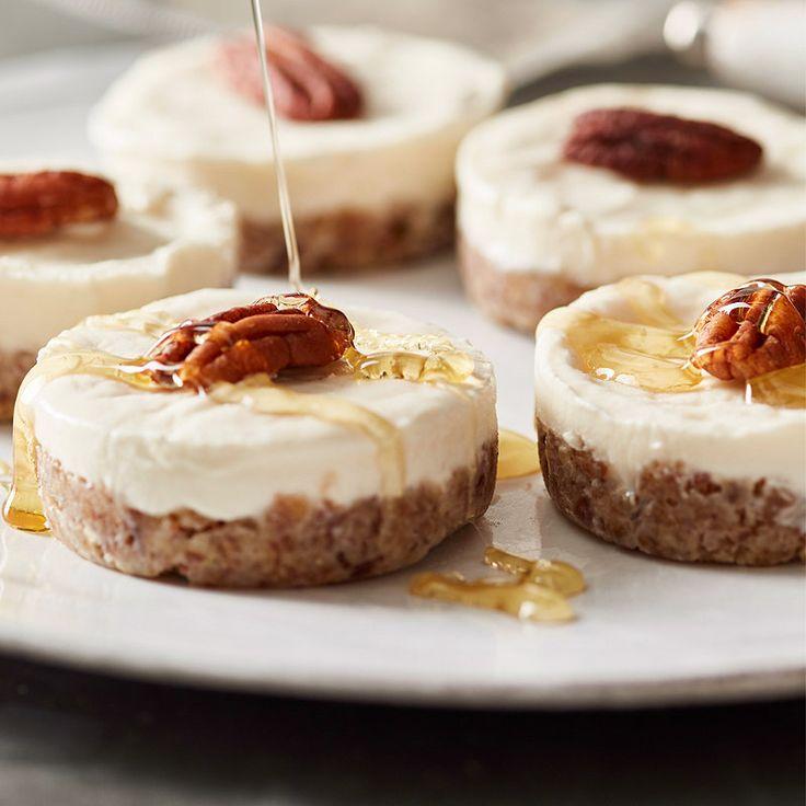 Vanilla & Honey Kefir Cheesecakes (kefir made with coconut milk)