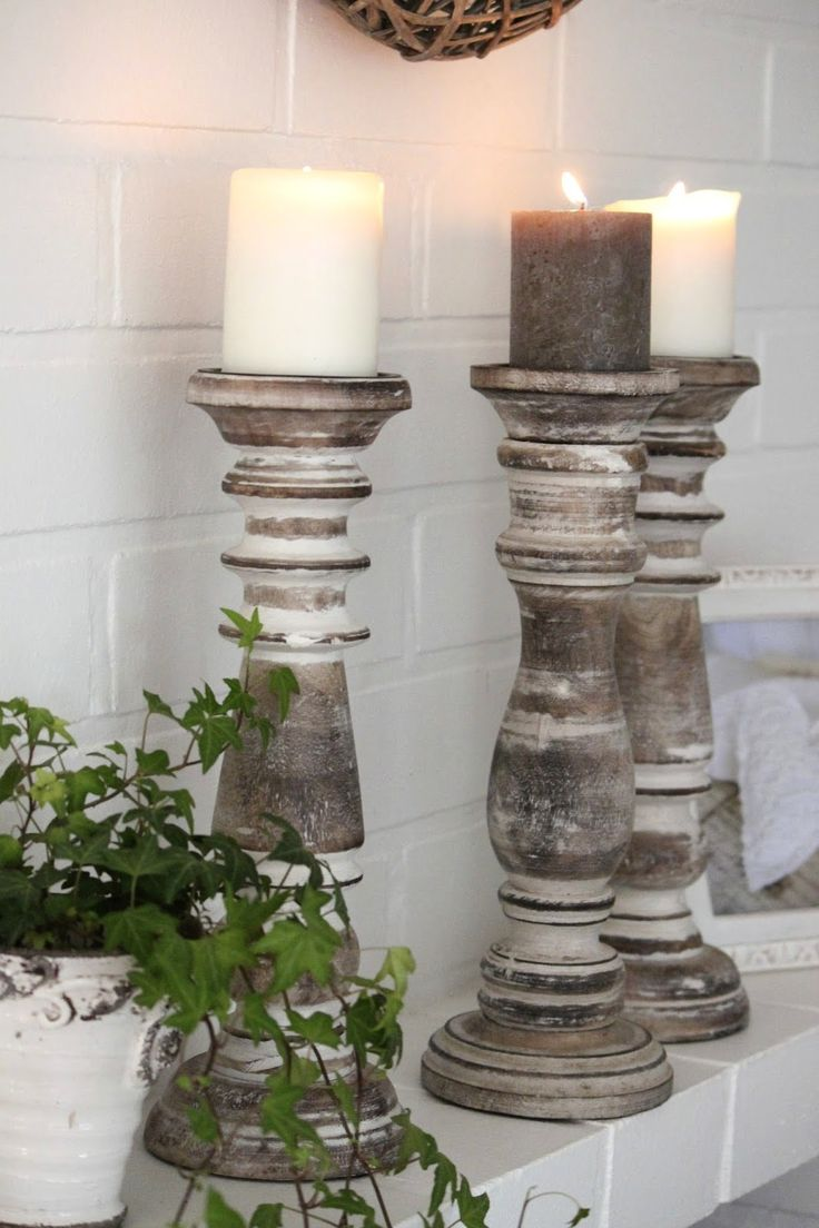 Best 25 candlesticks ideas on pinterest shabby chic for Homemade candle holders