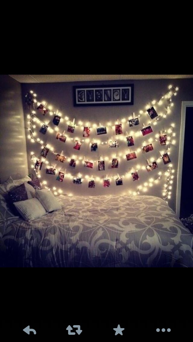 Pictures with lights on your wall <3