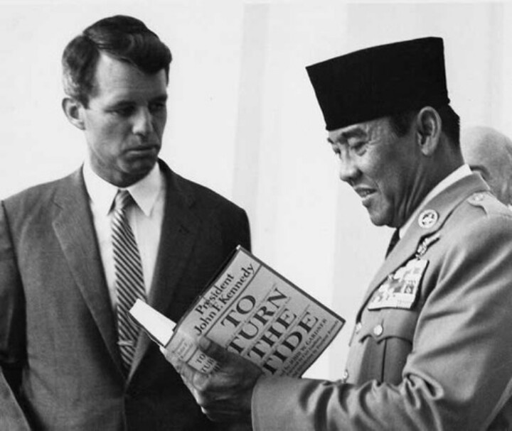 President Soekarno with Robert Francis Kennedy in Jakarta, 1962