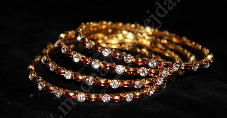 Индийские браслеты, 4 шт, d=5.5 cm