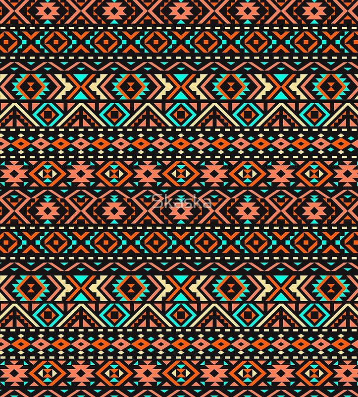 Ethnic seamless pattern with triangle and abstract geometric ornament. Tribal background texture.