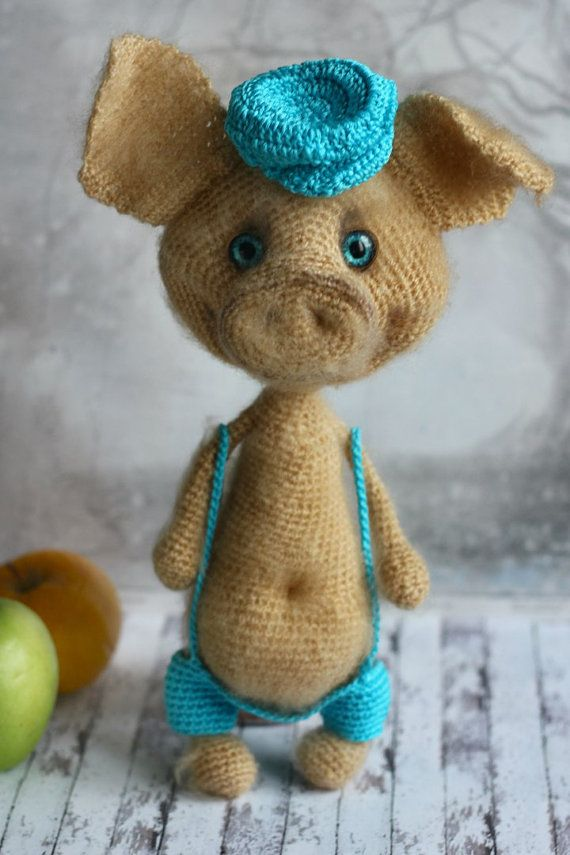 MADE to ORDER Crochet Piggy stuffed toy Hand-knitted pig