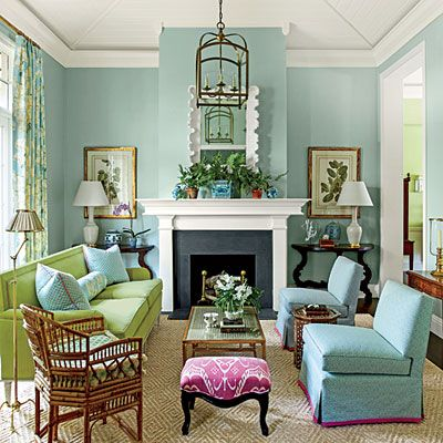 Pull Out A Bold Accent Color 101 Living Room Decorating Ideas Southern Living
