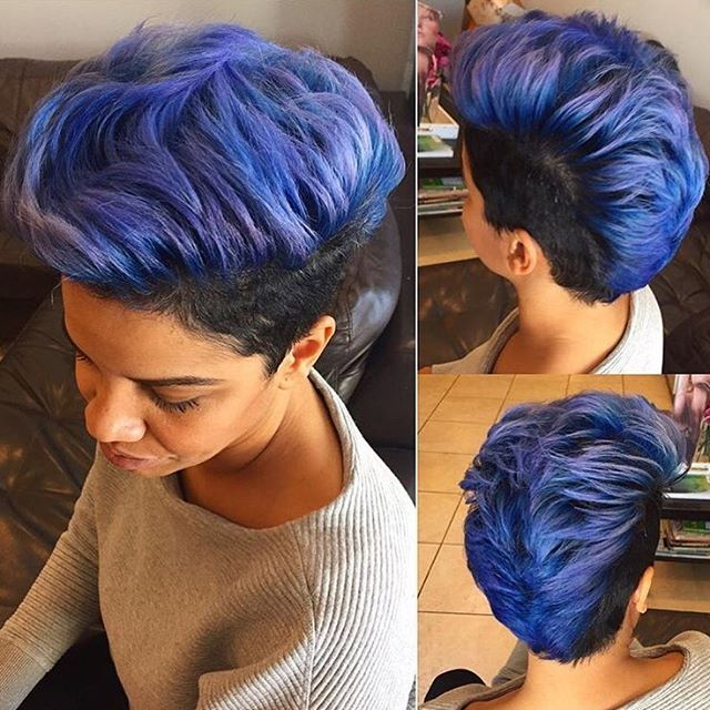 HAIRSPIRATION  Flashback to this fly  #mohawk on @v.glamorous ✂️ Such a bold cut and color #voiceofhair