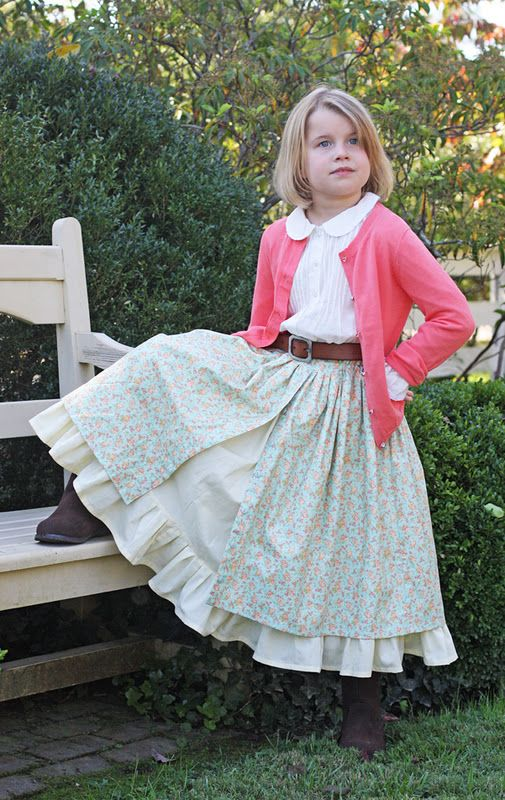 Goodness I love her patterns and these prairie skirts are gorgeous