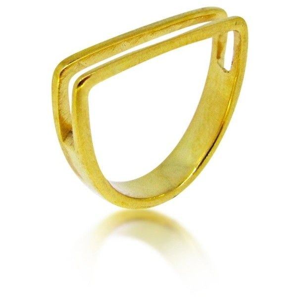 Maya Magal London  - Channel Ring Gold ($130) ❤ liked on Polyvore featuring jewelry, rings, cutout ring, gold jewellery, yellow gold rings, yellow gold jewelry and gold rings
