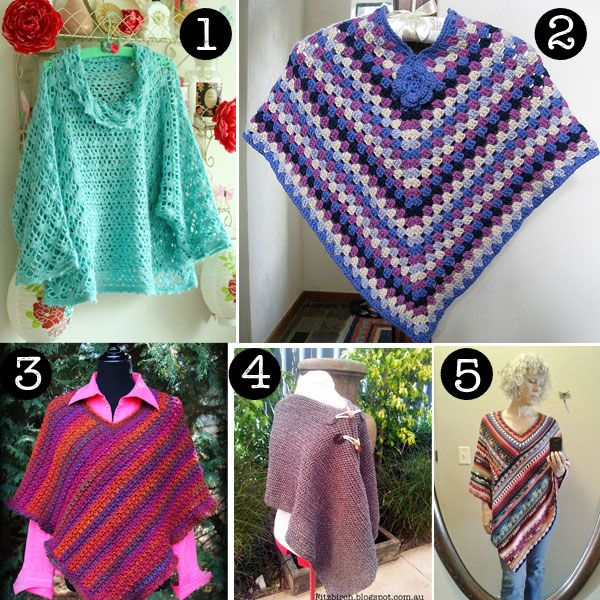 Easy Crochet Poncho Patterns For Beginners : 1000+ ideas about Crochet Poncho Patterns on Pinterest ...