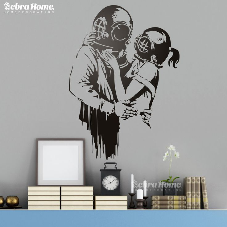 DIY Tank De Banksy Wall Stickers For Living Rooms Schoolroom Home Decor Art Nursery Bedroom Vinily Decal Mural Wallpaper 58X80CM