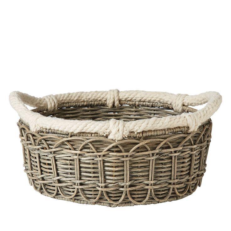 Juliska Waveney Wicker Medium Basket, Gray   Bloomingdale's