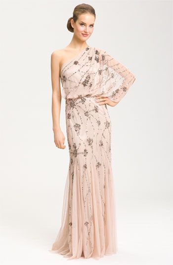 Adrianna Papell Beaded One Shoulder Gown $298 at Nordstrom: Fashion Shoes, Adrianna Papell, Papell Beads, Prom Dresses, Beads Dresses, Bridesmaid Gowns, Bride Dresses, One Shoulder Gowns, Style Fashion