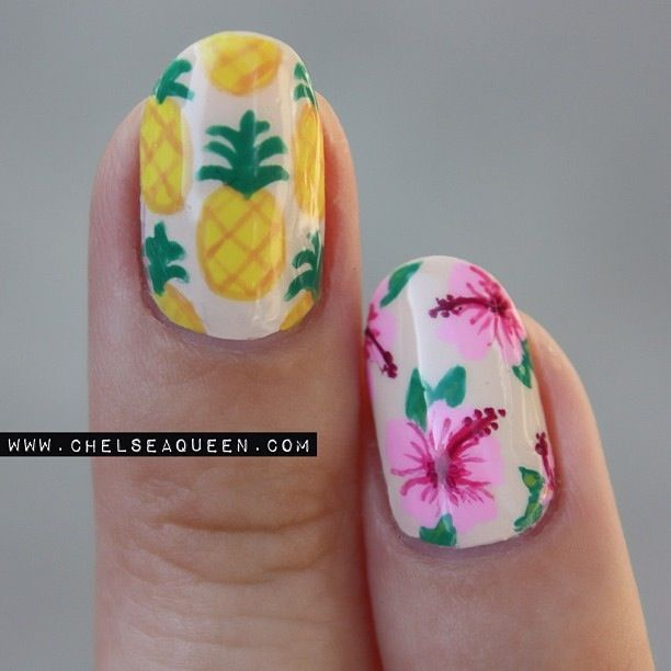 LOVE PINEAPPLES? 16 THEMED PROJECTS JUST FOR YOU - Best 25+ Pineapple Nails Ideas On Pinterest Pineapple Nail