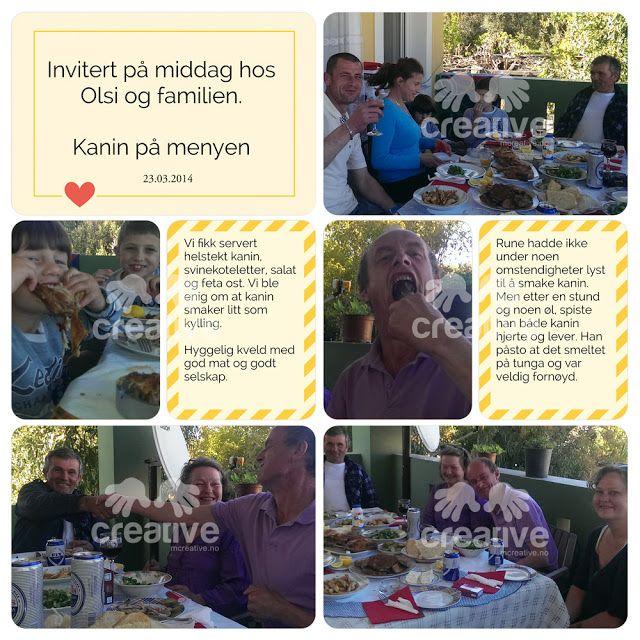 H♥BBYSYSLER: Invitert på middag, project life app side