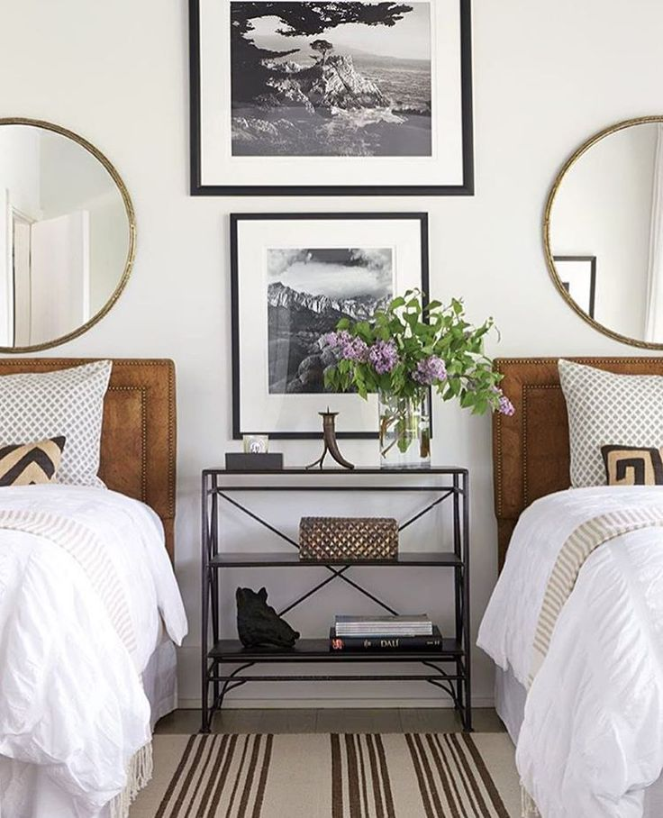 Guest Room Black and White Frames