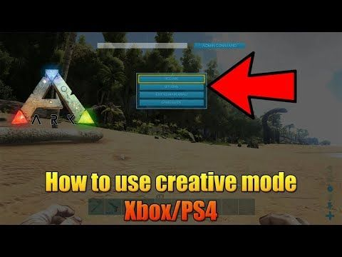 ARK - HOW TO USE CREATIVE MODE ON CONSOLE! - XBOX/PS4 - EASY