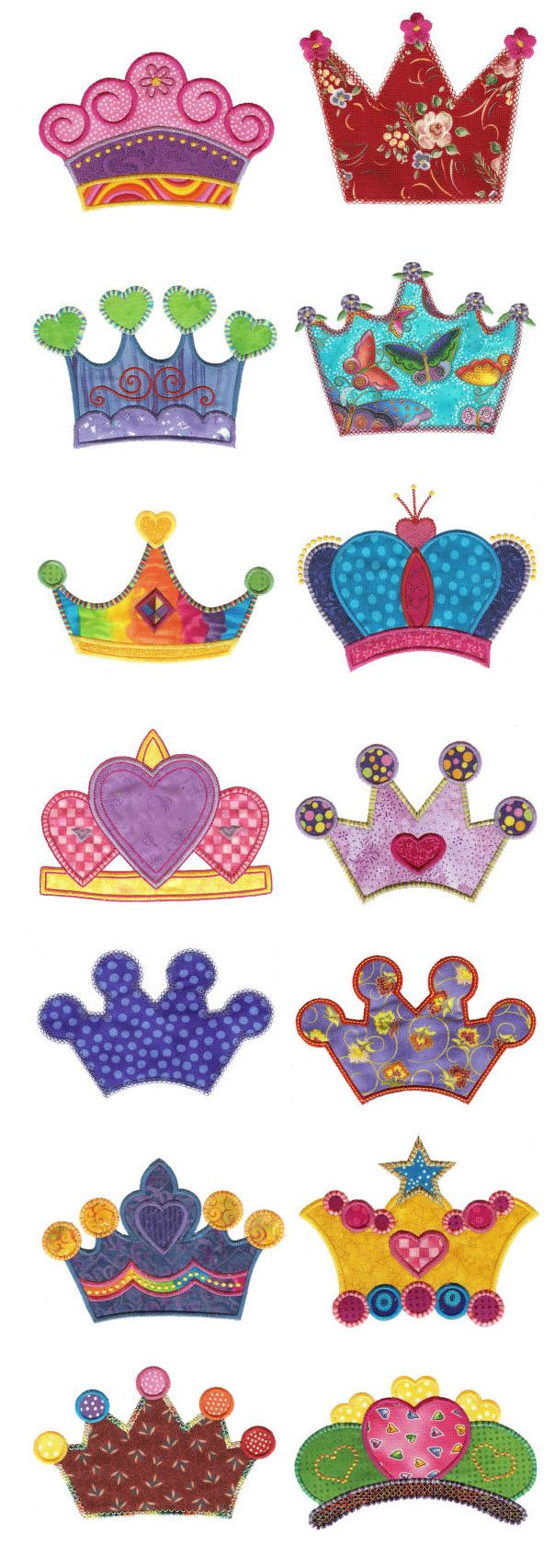 Embroidery | Free Machine Embroidery Designs| If the Crown Fits Applique