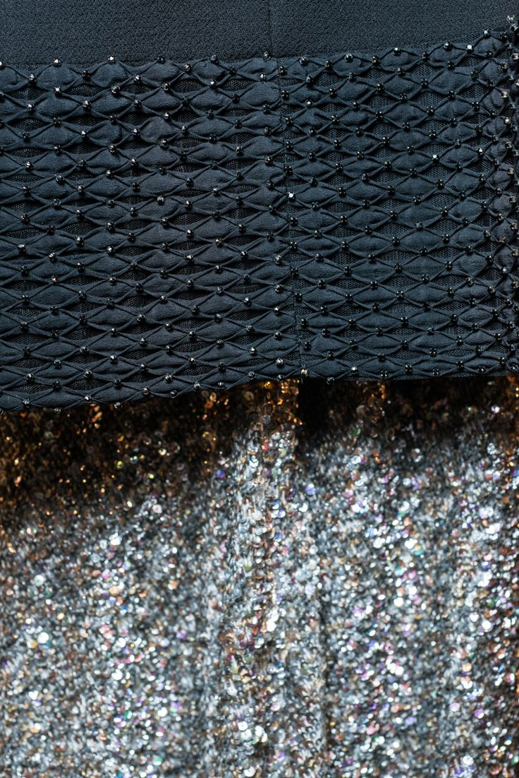 sparkles + textures.  details at carmen marc valvo fw16 #NYFW @nyfwofficial #CarmenMarcValvo #Spring2017