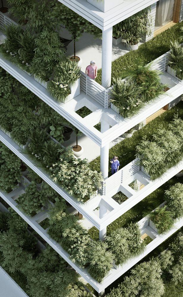 Gallery of Penda Designs Sky Villas with Vertical Gardens for Hyderabad - 10