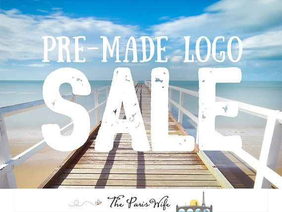 premade logo design photography logo boutique logo website