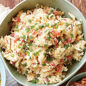 Top Tailgating Dips and Appetizers  | White Cheddar-Chive Pimiento Cheese | MyRecipes.com
