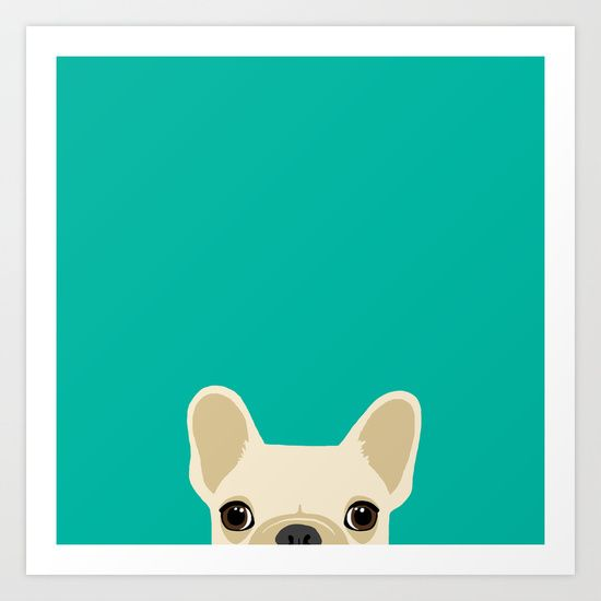 Buy French Bulldog by Anne Was Here as a high quality Art Print. Worldwide shipping available at Society6.com. Just one of millions of products available.