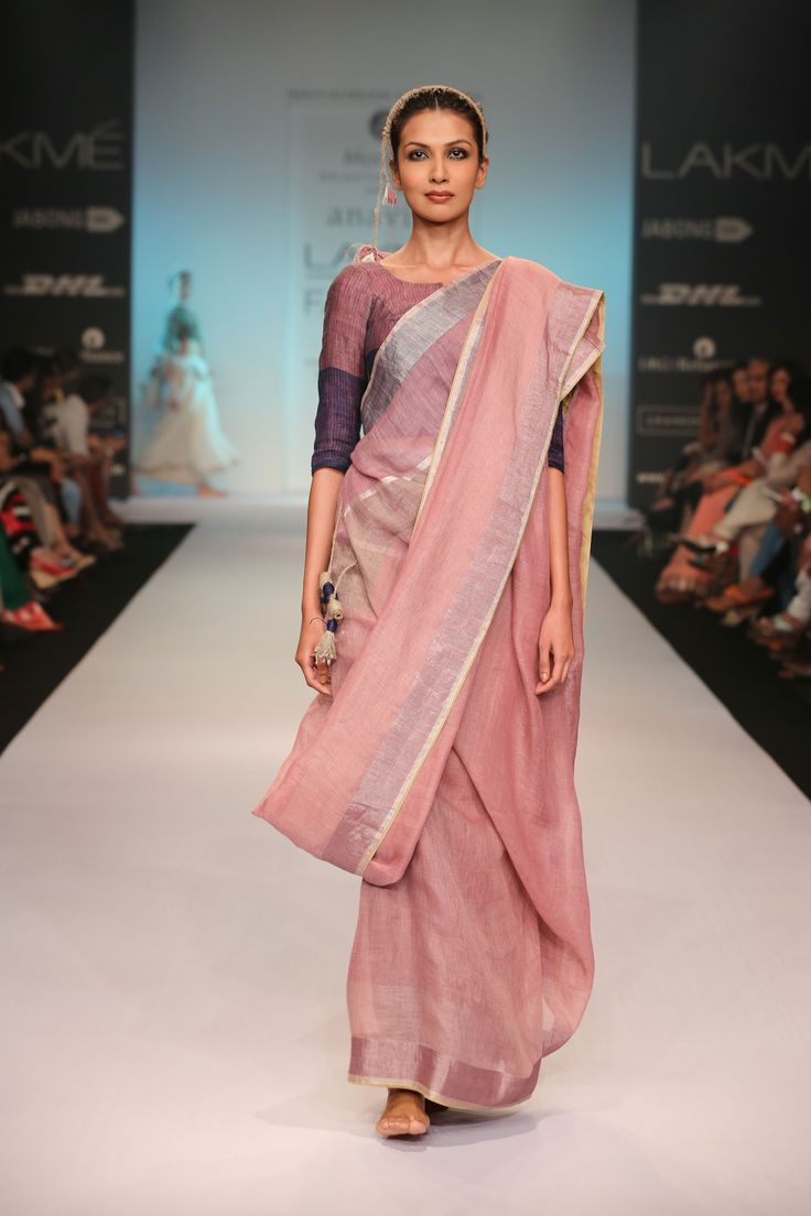 Anavila Misra, Linen Sari. Also check out her very interesting work.