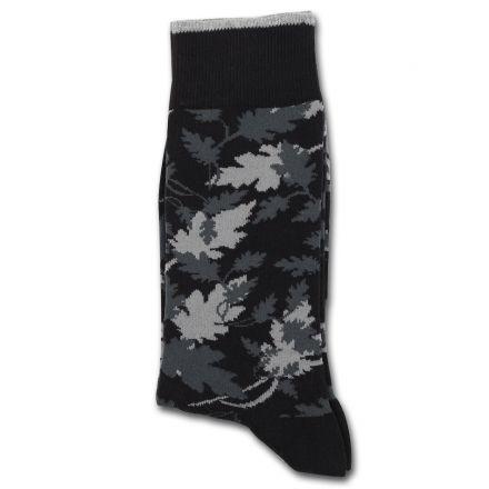 Democratique Socks Originals MONOCHROME 2-pack LEAVES CAMO Black / Charcoal / Lightgrey